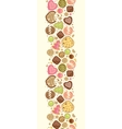 Colorful cookies vertical seamless pattern vector