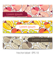 Set of three card with apples vector