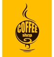 Hot steaming coffee banner vector