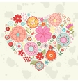 Elegant card with floral heart vector