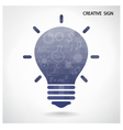 Creative light bulb and brain concept vector