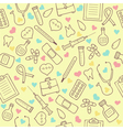 Seamless doodle medical pattern with colored vector