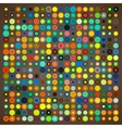 Abstract background of colored circles vector