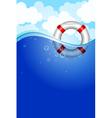 Life buoy in water vector