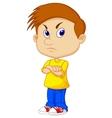 Angry boy cartoon vector