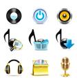 Music icons - bella series vector