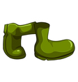 A pair of green shoes vector