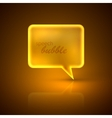 With golden speech bubble vector