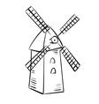Rural mill - sketch vector