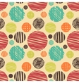 Fabric circles abstract seamless pattern vector