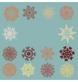 Vintage snowflakes card eps 8 vector