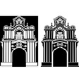 Arch in two variants vector