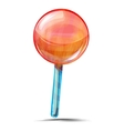 Delicious lolly pop isolated on white vector