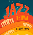 Jazz concert music background vector