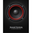 Sound loud speaker vector