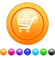 Add to cart circle button vector
