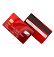 Credit card red icon isolated on white vector
