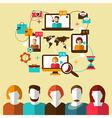 Communication social network vector