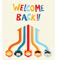 Welcome back to school student network vector