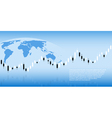 Candlestick graph background vector