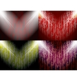 Set of abstract colored background spotlights with vector