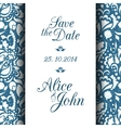 Save the date invitation card vector