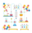 Chemistry infographics composition vector