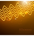 Abstract shiny background with golden zigzags vector