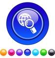 Global search circle button vector