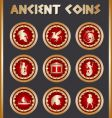 Ancient coins vector