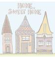Pastelhouses vector