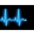 Heartbeat glow on a black monitor eps 8 vector