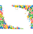 Balloons background vector