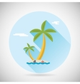Sea beach holiday vacation symbol ocean island vector