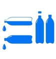 Bottle and falling water drop vector