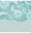 Vintage floral rose dots card vector