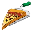 Pizza piece icon vector