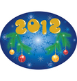 Christmas background 2012 vector