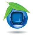 Globe house icon vector