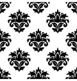 Black and white damask style fabric pattern vector
