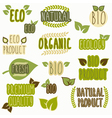 Set of organic eco and bio labels vector