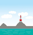Lighthouse island ocean beach sea nautical vector