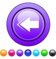 Back arrow circle button vector