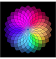 Rainbow style wheel color creative abstract flower vector