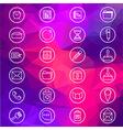 Basic web icons vector