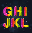 Abstract rainbow font g-l vector