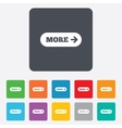 More with arrow sign icon details symbol vector