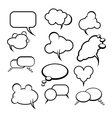 Comics style speech bubbles balloons on background vector