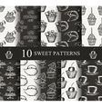 Cake seamless patterns set vector