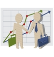 Businessmen shake hands vector
